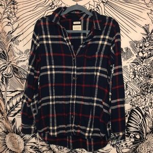 AMERICAN EAGLE - red, blue, and white flannel